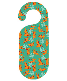 The Crazy Me Doggy Printed Door Hanger - Green