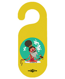 The Crazy Me Babaji Printed Door Hanger - Yellow