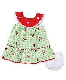 Adores Printed Summer Baby Dress - Green