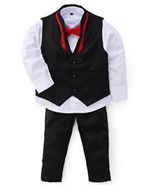 Adores Stunning Gentlemen's Party Wear Suit - Red Black & White
