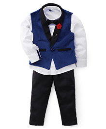 Adores Sophisticated Party Wear Suit - Black Blue & White