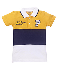 Smarty Half Sleeves Polo Neck T-Shirt - Golden Yellow