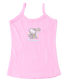 Hello Kitty Plain Solid Color Slip With Print - Light Pink