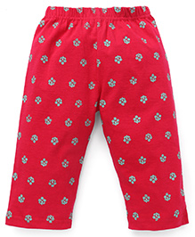 Tango Full Length Leggings Floral Print - Red