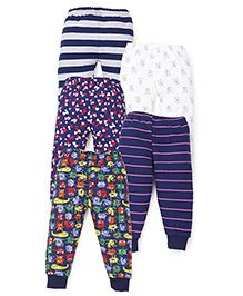 Kidi Wav Multiprints Pyjamas Pack Of 5 - Blue