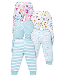 Kidi Wav Multi Prints Pyjamas Pack Of 5 - Mint Blue