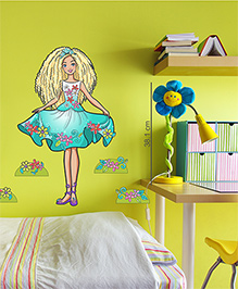 Barbie Loves To Dress Up Wall Decal Medium - Green