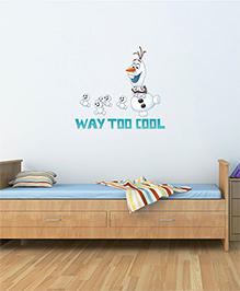 Disney Frozen Olaf Way Too Cool Wall Decal - White Blue