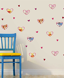 Disney Winnie The Pooh & Friends In Heart Frames Wall Decals Medium - Multi Color