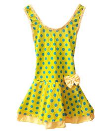 Milonee Polka Dot One Piece Swimwear - Yellow