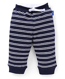 Little Kangaroos Track Pants Stripes Print - Navy Blue