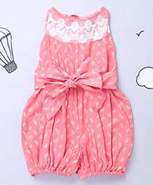 Hugsntugs Net Stylish Jumpsuit - Pink