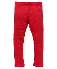 Pinehill Full Length Plain Leggings - Red