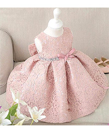 Pre Order - Aww Hunnie Bell Silhouette Box Pleated Dress - Pink