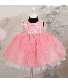 Pre Order - Aww Hunnie Bell Silhouette Dress With Diamond Applique - Pink
