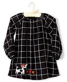 Nitallys Cow Patch Work Shift Dress - Black