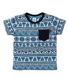 OllypopHalf Sleeves Printed T-Shirt - Blue