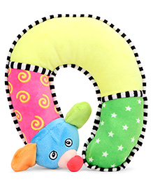 Babyhug Baby Neck Support Pillow Animal Applique Multicolour - 29 Cm - 1343092