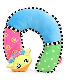Babyhug Baby Neck Support Pillow Animal Applique Multicolour - 29 Cm - 1343120