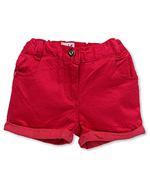 Pinehill Plain Shorts With Turn Up Hem - Fuchsia