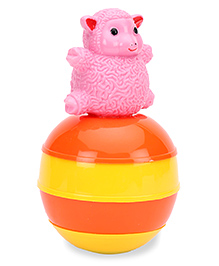 Ratnas Baby Touch Roly Poly Sheep - Orange Yellow