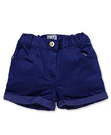 Pinehill Plain Shorts With Turn Up Hem - Royal Blue