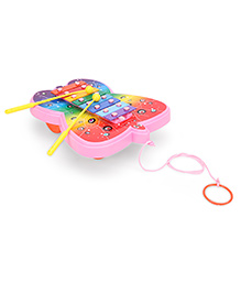 Ratnas Xylophone Butterfly Design - Pink Multicolor