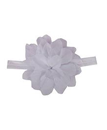 Pikaboo Multi Petal Floral Headband - White