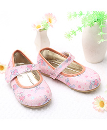 LCL By Walkinlifestyle Mary Jane Shoes Bunny Print - Pink