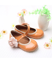 LCL By Walkinlifestyle Mary Jane Shoes Floral Applique - Orange