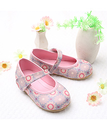 LCL By Walkinlifestyle Mary Jane Shoes Print - Light Pink