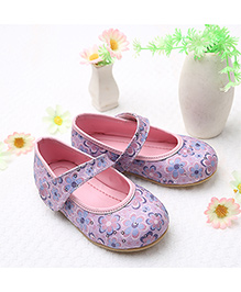 LCL By Walkinlifestyle Mary Jane Shoes Sequin Embellishment - Pink Purple
