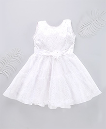 Superfie Glittery Party Dress - White