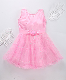 Superfie Glittery Party Dress - Pink