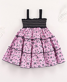 Superfie Mixprint Casual Dress For Lil Girl - Purple