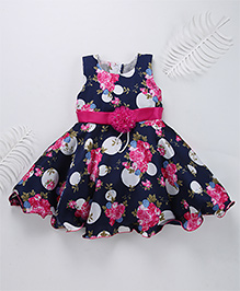 Superfie Beautiful Moon Party Dress - Blue & Hot Pink
