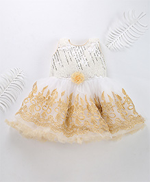 Superfie Party Dress For Lil Girl - Beige
