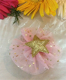Angel Closet Girls Sparkly Star Tulle Clip - Pink