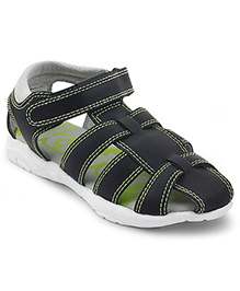 Kittens Shoes Floaters - Black & Green