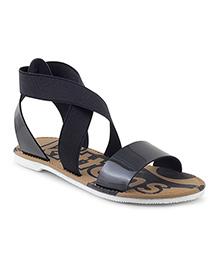 Kittens Shoes Slip-on Style Sandals - Black