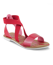 Kittens Shoes Slip-on Style Sandals - Red