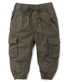 Fox Baby Cargo Pants With 4 Pockets - Green