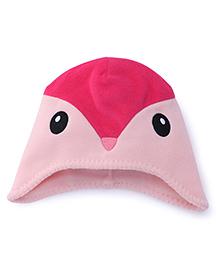 Fox Baby Cap Bird Design - Pink Fuchsia
