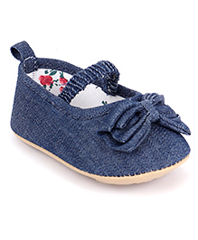 Fox Baby Denim Booties - Navy Blue