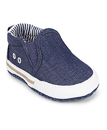 Fox Baby Slip-On Booties - Denim Blue
