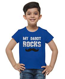 M'Andy My Daddy Rocks Printed Tee - Blue