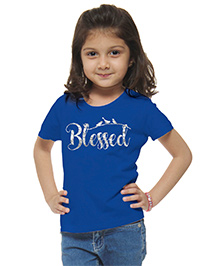 M'Andy Blessed Printed Tee - Blue