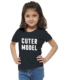 M'Andy Cuter Model Printed Tee - Black