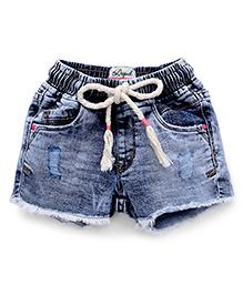 Vitamins Cloud Wash Style Denim Shorts - Light Blue