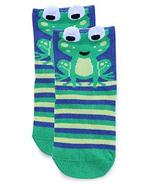 Mustang Socks Froggy Design - Green Blue
